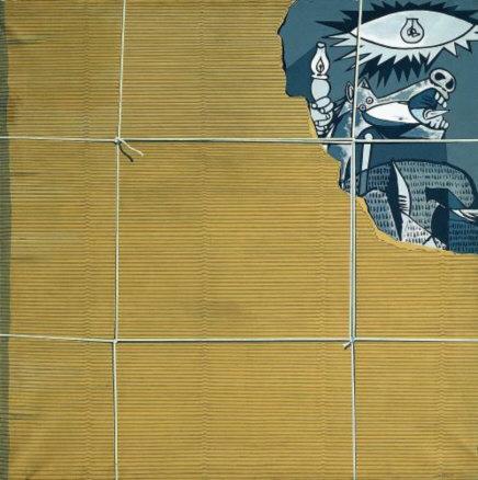 """Equipo Crónica, El_embalaje (1969), Collección de Arte Contemporánea de la Fundación """"la Caixa"""""""