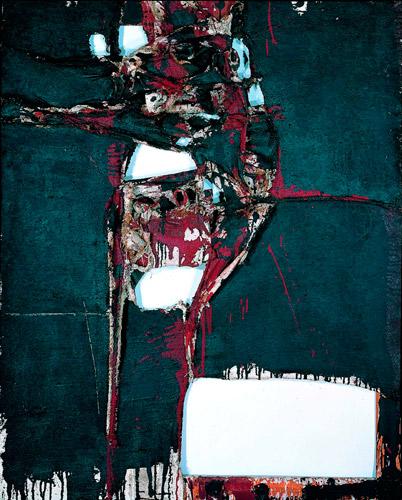 """Manuel Millares, Humúnculo (1960), Collección de Arte Contemporánea de la Fundación """"la Caixa"""""""