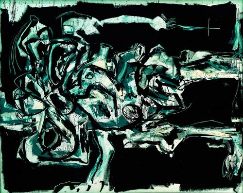"""Carlos Saura, Gran nu (1960-61),Collección de Arte Contemporánea de la Fundación """"la Caixa"""""""