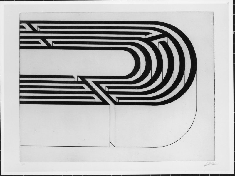 Sense títol (Robert Morris, Cinc laberints, sèrie de litografies, 1993) Carlo Fei, Gori Collection, Fattoria di Celle, Pistoia