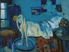 The Blue Room (The Tub), 1901, by Pablo Picasso. Oil on canvas, 50.5 x 61.6 cm. The Phillips Collection, Washington, D.C. Acquired 1927 (1554). © 2010 Estate of Pablo Picasso / ARS, New York